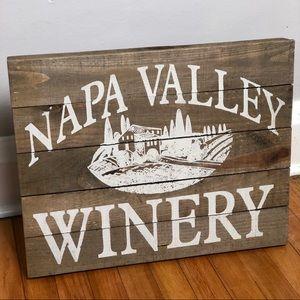 Napa Valley Winery Vineyard Wood Pallet Wall Sign